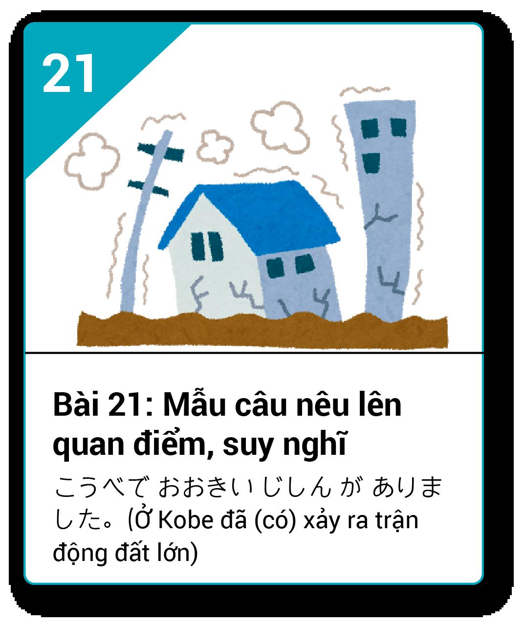 Từ vựng ngữ pháp Minna bài 21