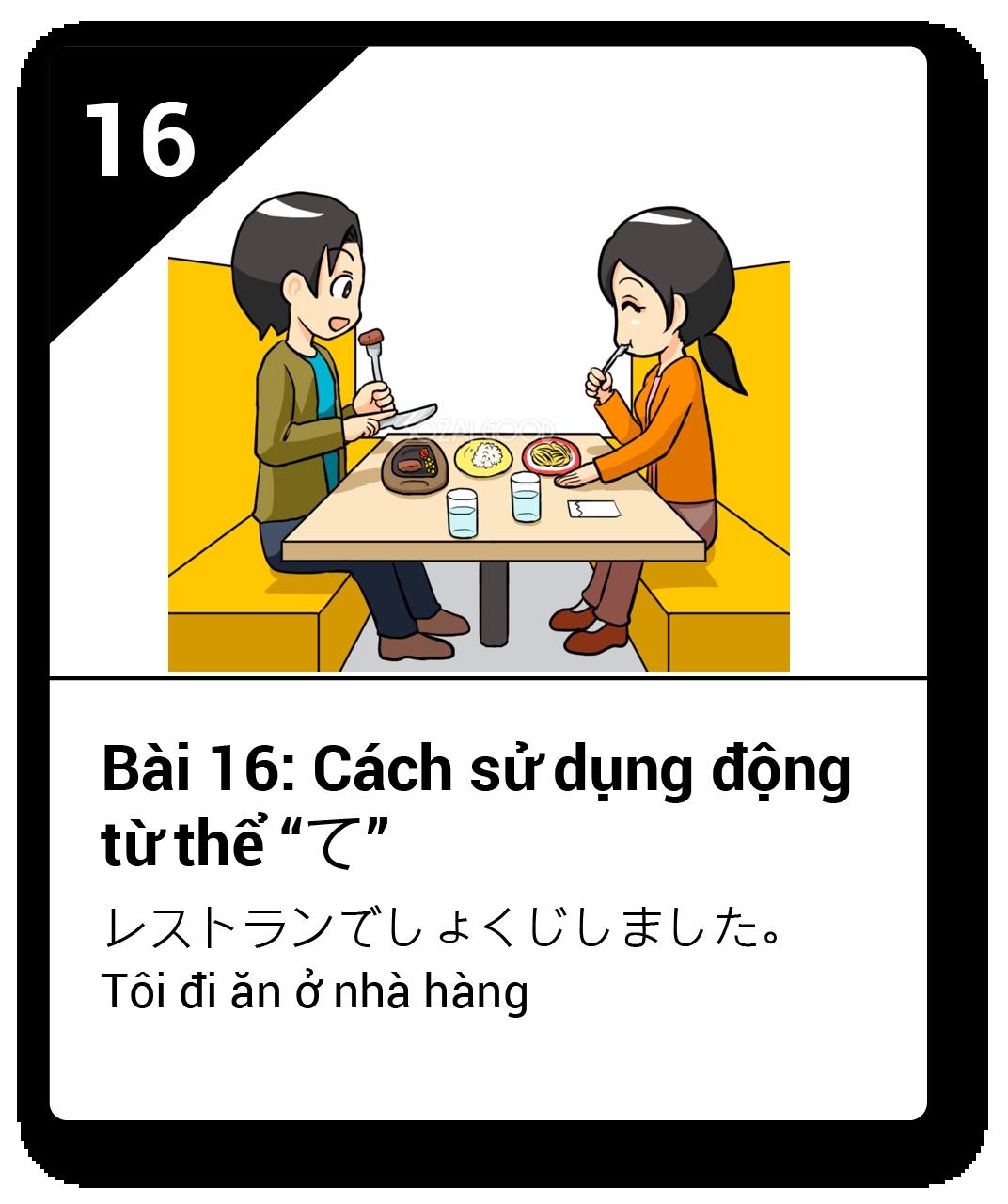 Từ vựng ngữ pháp Minna bài 16