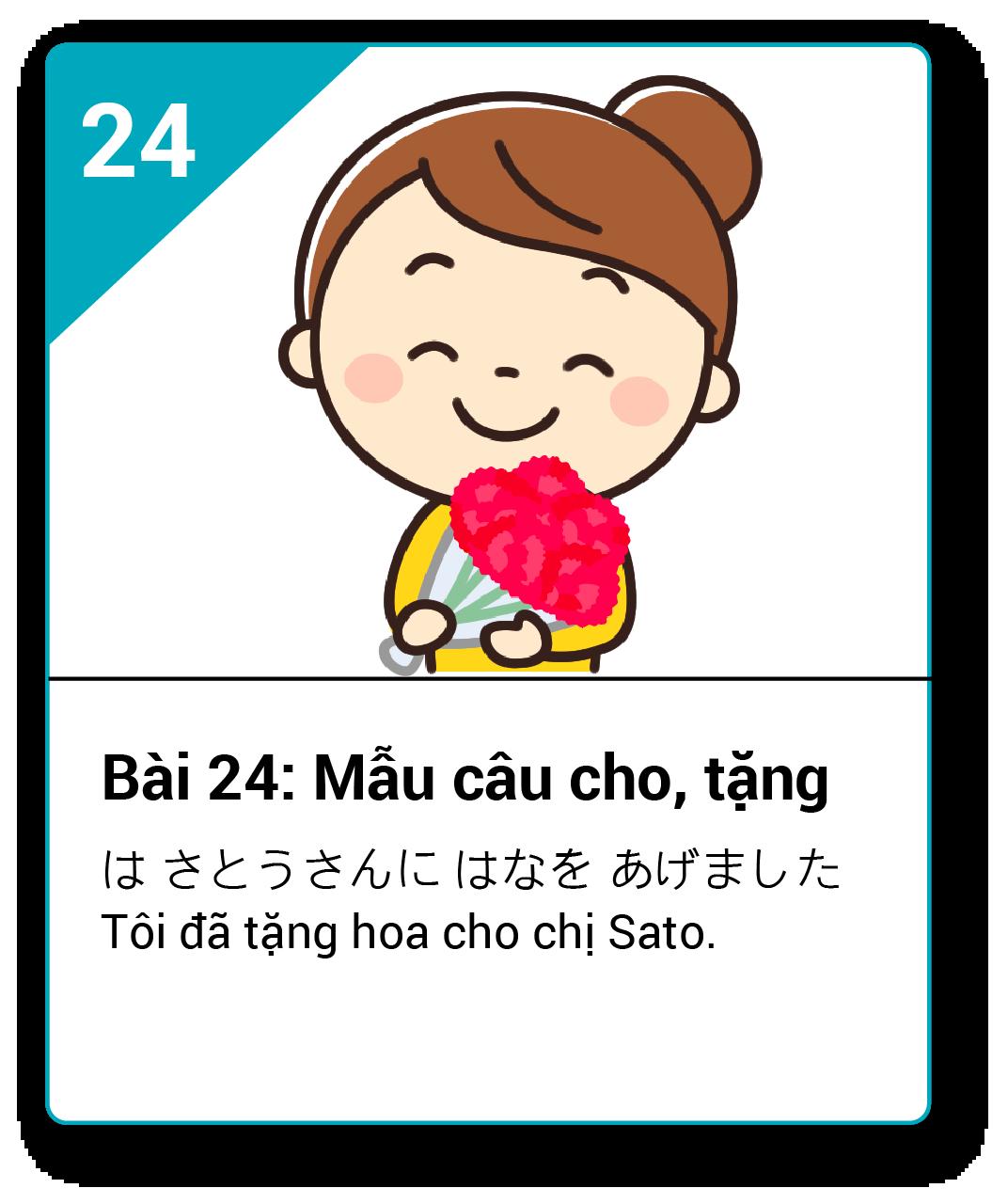 Từ vựng ngữ pháp Minna bài 24