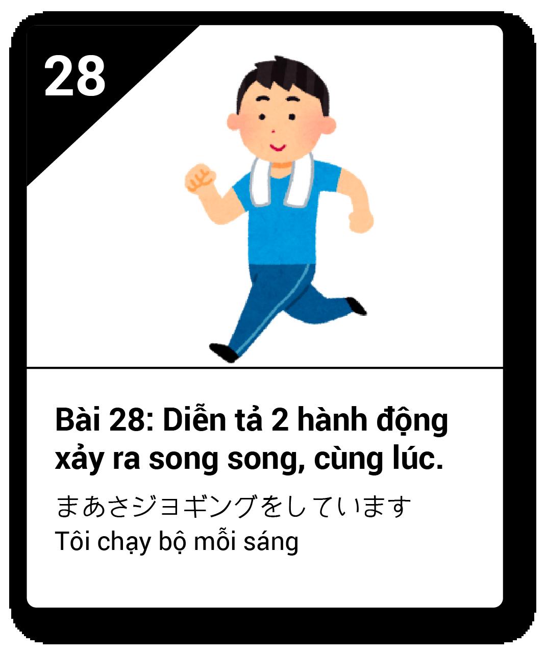 Từ vựng ngữ pháp Minna bài 28