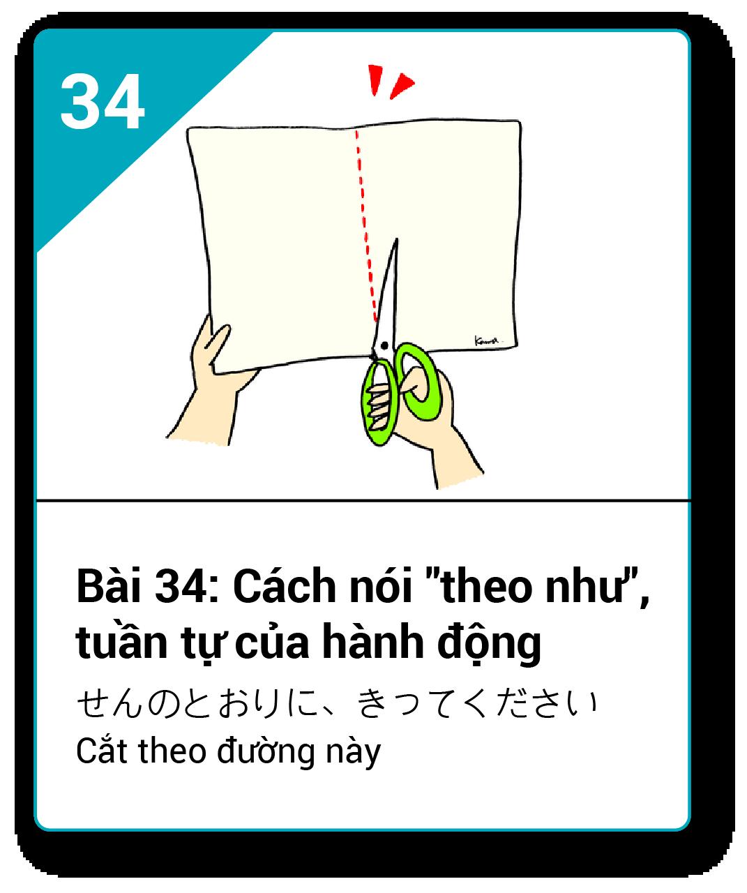 Từ vựng ngữ pháp Minna bài 34