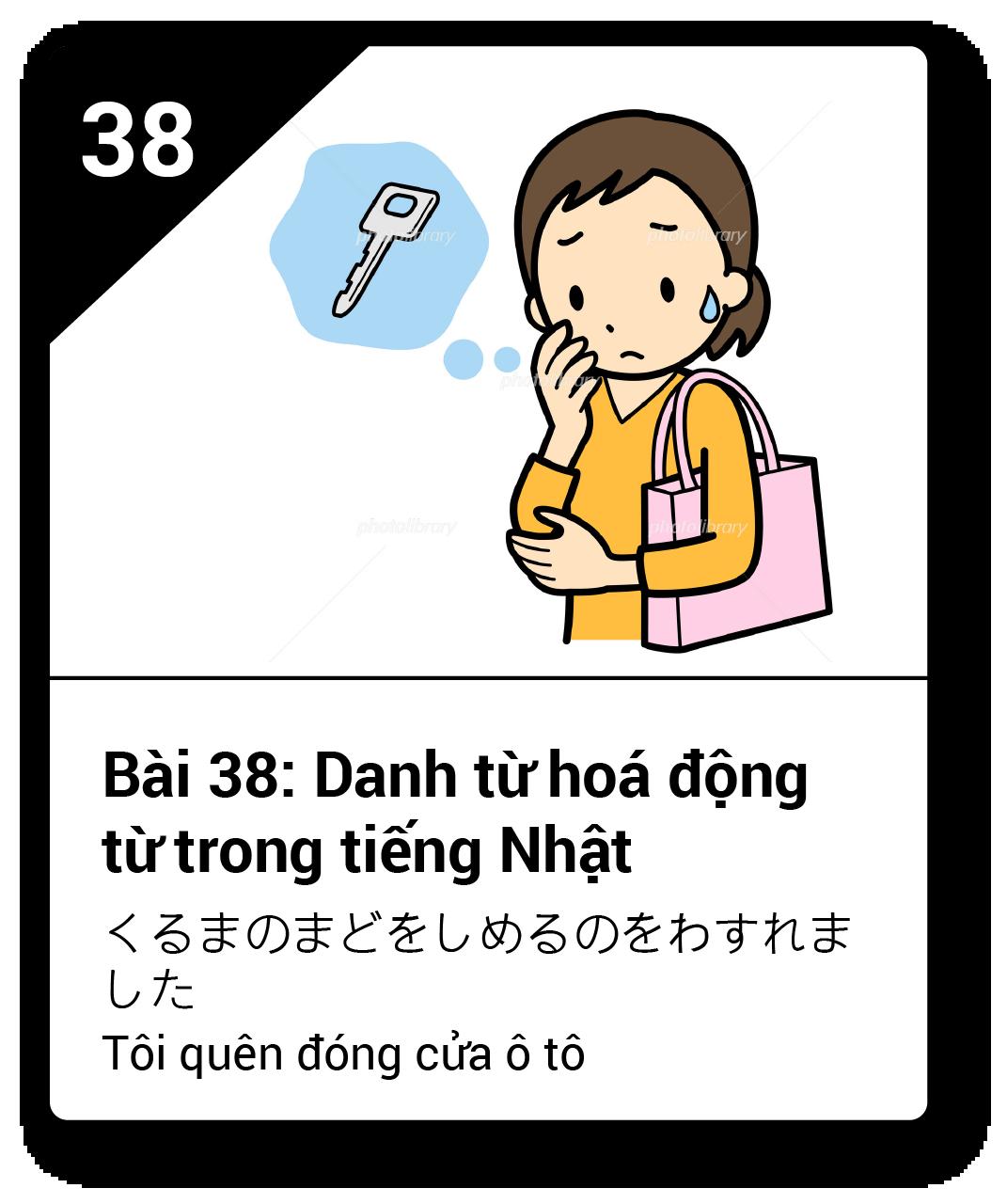 Từ vựng ngữ pháp Minna bài 38
