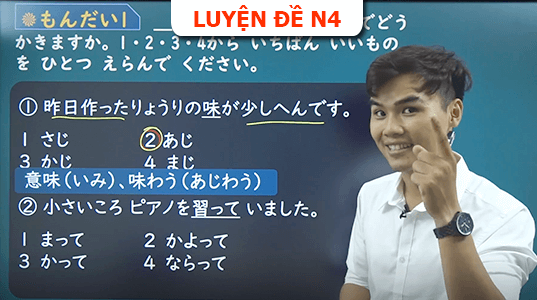 Luyện đề N4