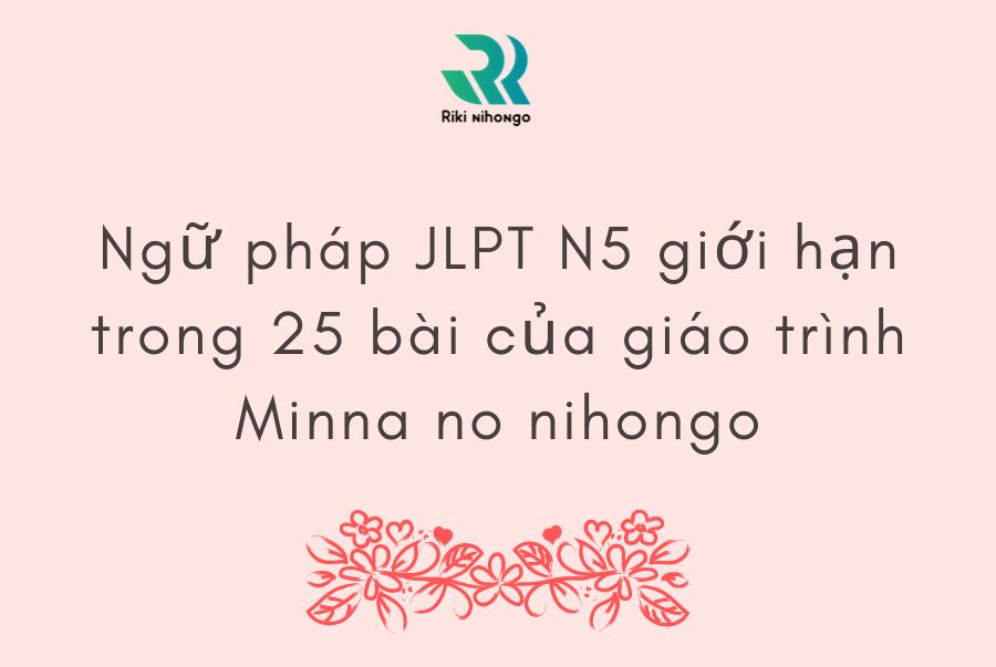 đề thi thử JLPT N5